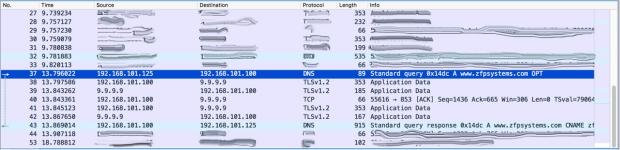 Wireshark-DNS-over-TLS